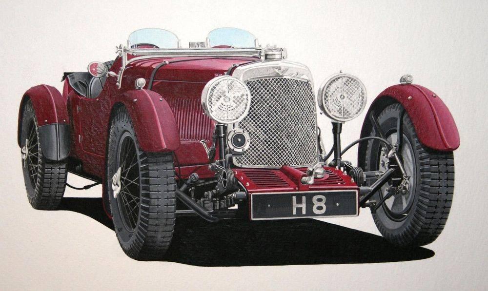 Aston Martin (Acrylic) : Commission (UK)