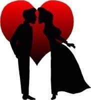 Valentine kiss siloughet