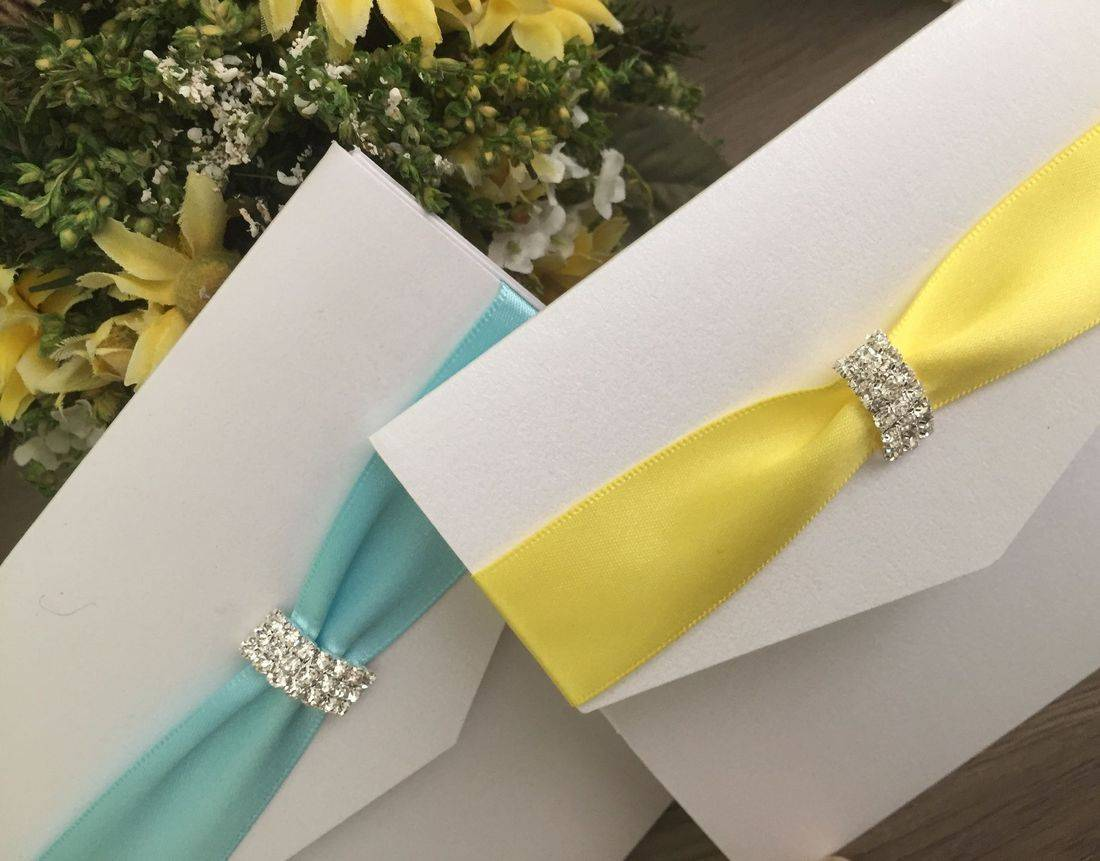 Luxury Wedding Invitations with Crystal