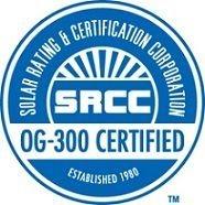 calentador solar certificado por la Solar Rating & Certification Corp.