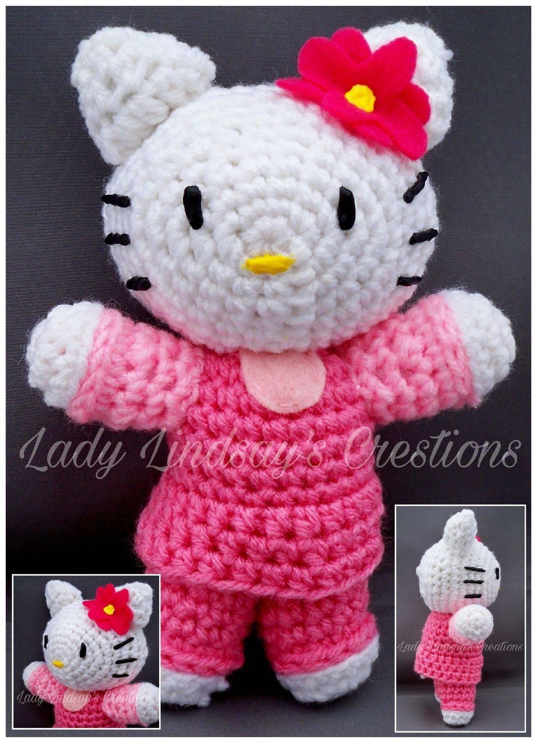 Hello Kitty, HK, Amigurumi, Plush, Crochet, Handmade, Doll,  anime, kawaii, otaku, nerd, geek, manga, comicbook, Etsy, ShopSmall