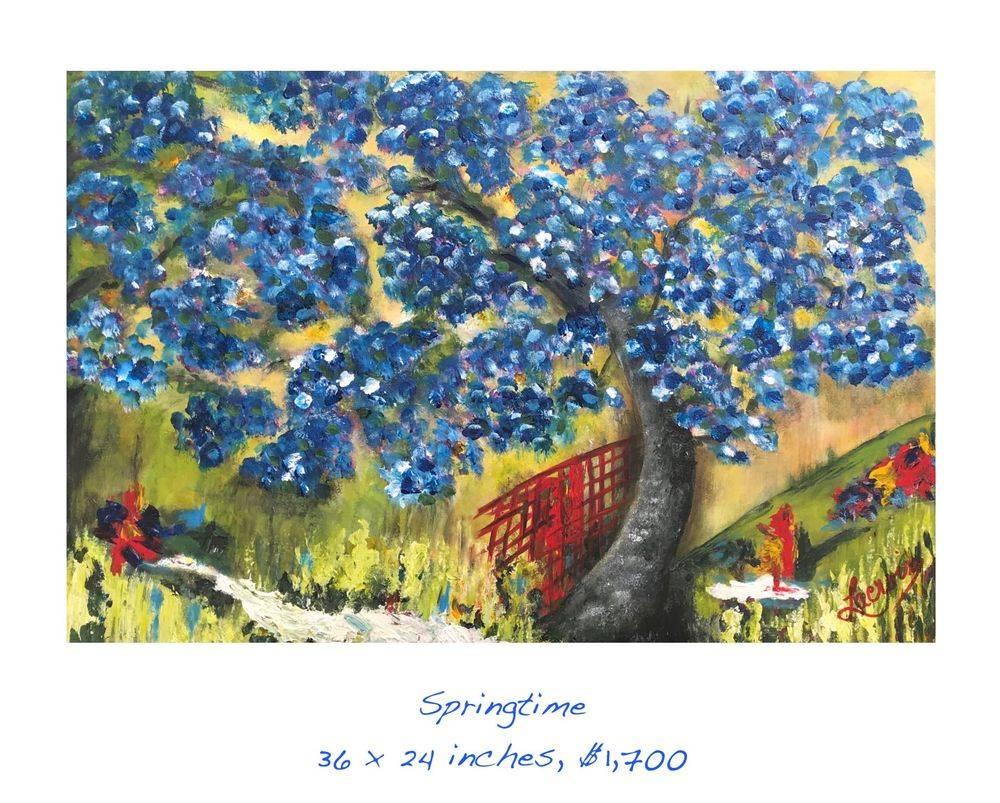 Springtime acrylic painting