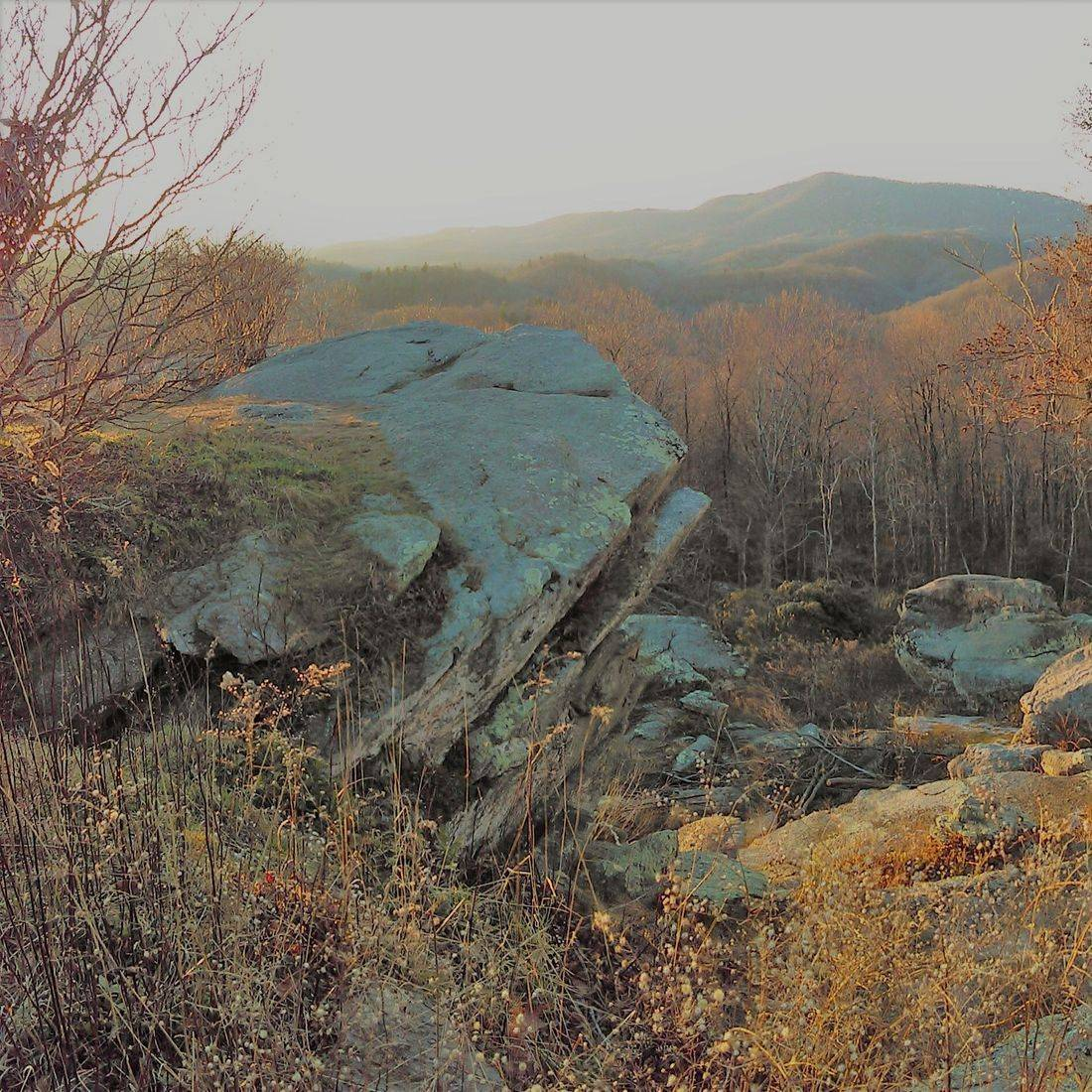 Blue Ridge Mountains, NC, Overlook, Rocks, Horizon