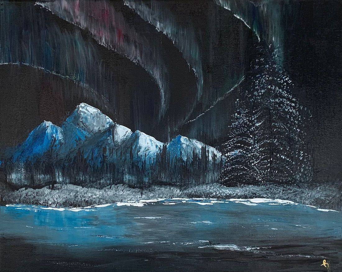Northern Lights,  Mountains, Alaska, Aurora Borealis