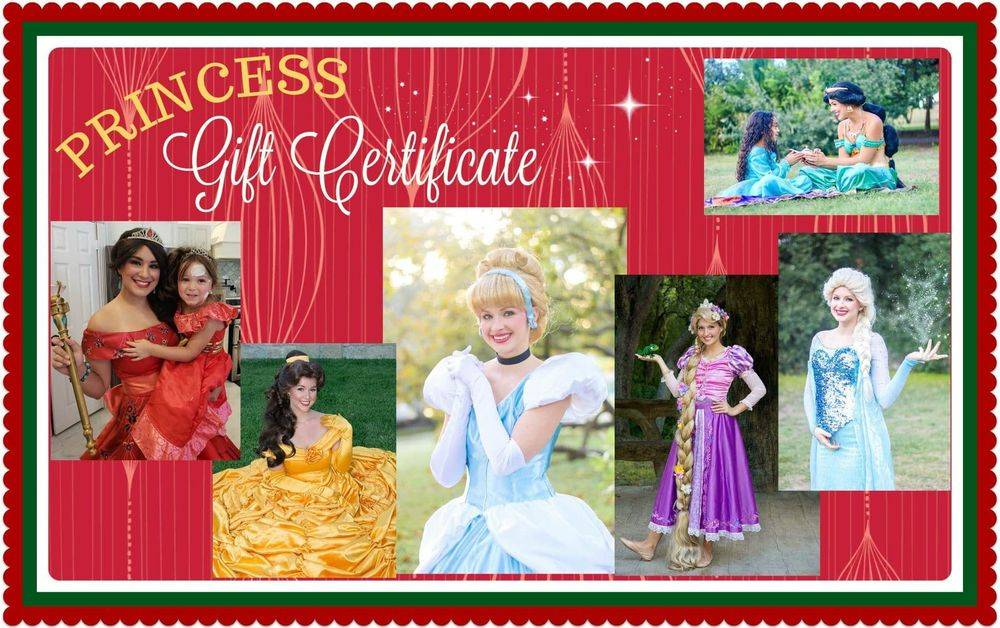 Christmas visits princesses for hire San Antonio