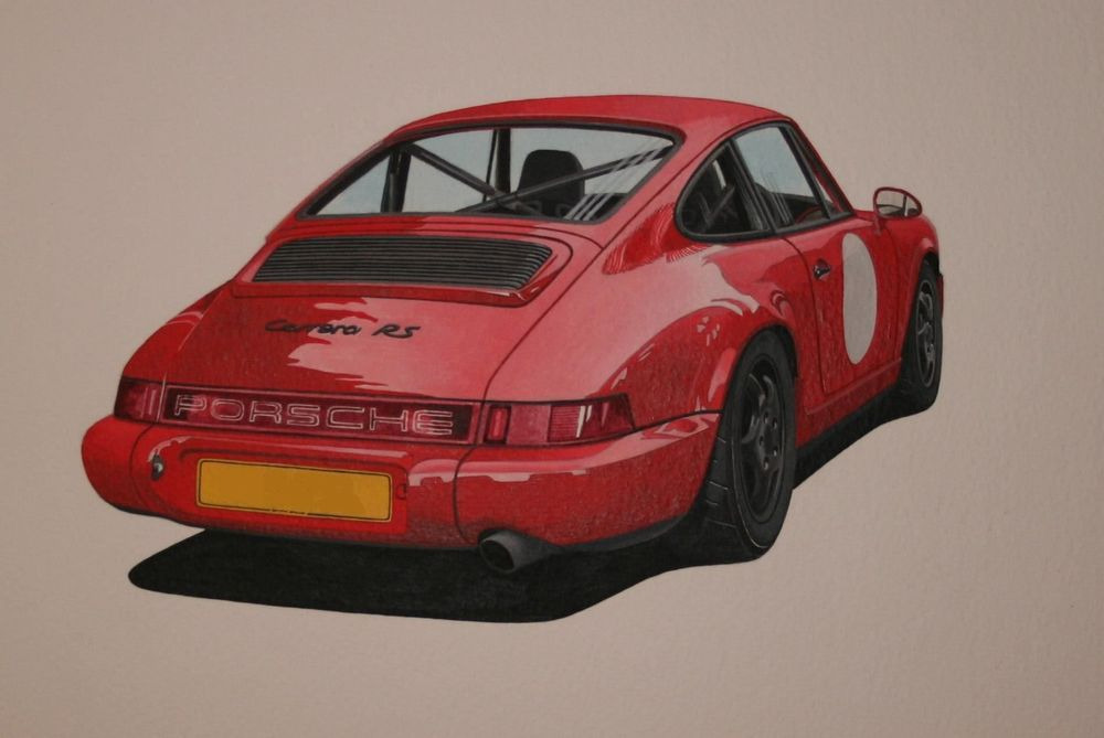 Porsche Carrera RSL  (Acrylic) : Acrylic Commission (UK)