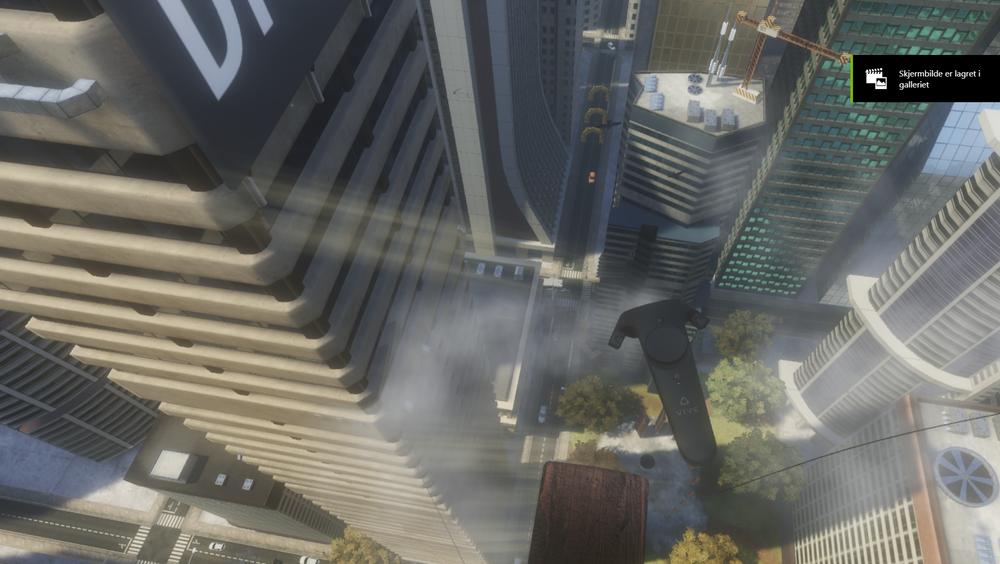 VR gaming høydeskrekk opplevelse pc kult