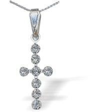 Swarovski Crystal Cross Necklace in Clear Crystal (C585) £8.99