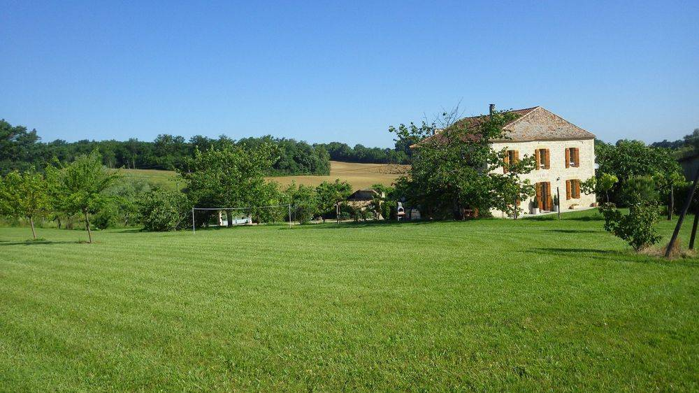 view of Gabillou from garden