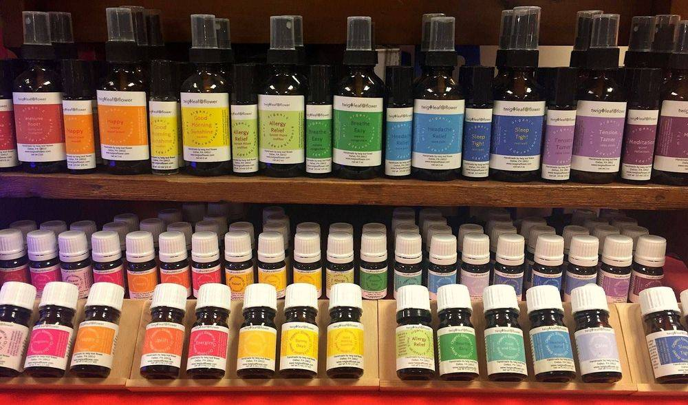 twig leaf flower aromatherapy collection