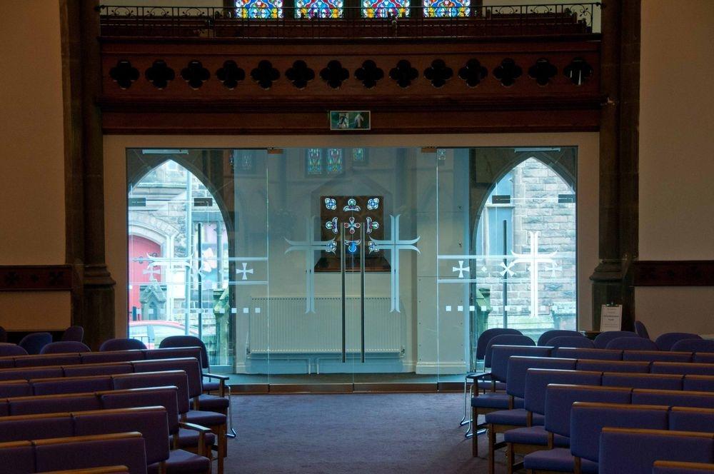 St James Woolton Liverpool Glass doors