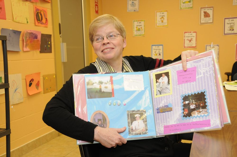 Scrapbooking for special needs adults