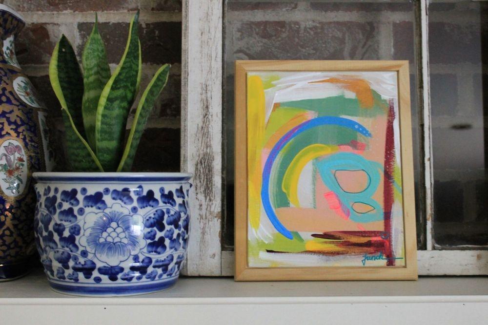 How to collect art Birdgirl Sasha French home art gallery