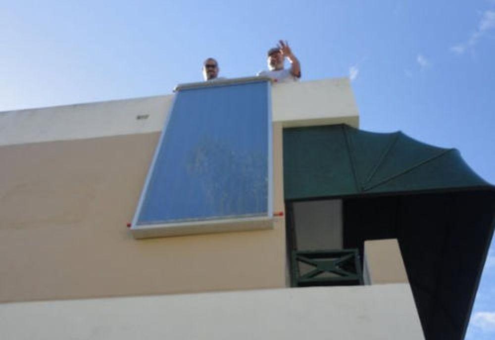 Placa calentador solar