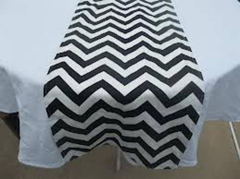 Chevron satin table runners