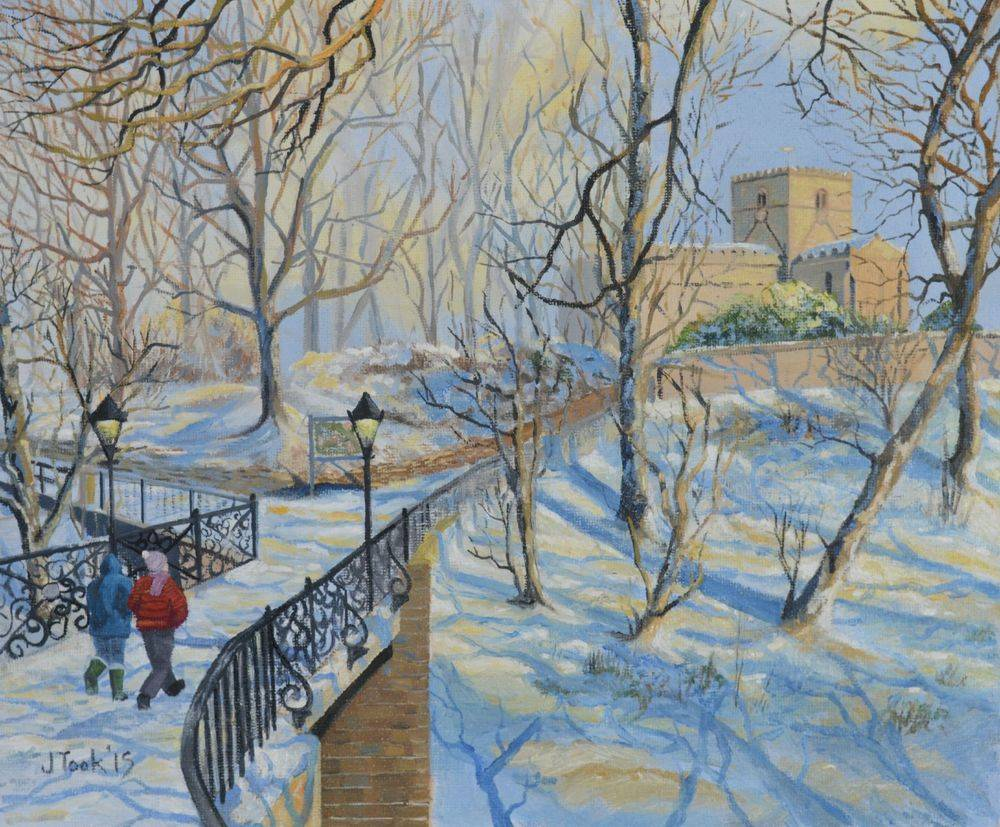 Jane Took Art Filey Painting Snow St Oswalds