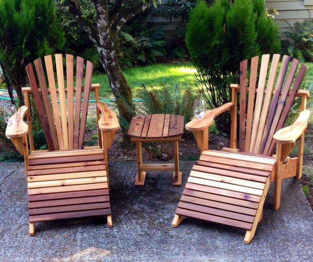 Cedar Adirondack Patio Furniture.