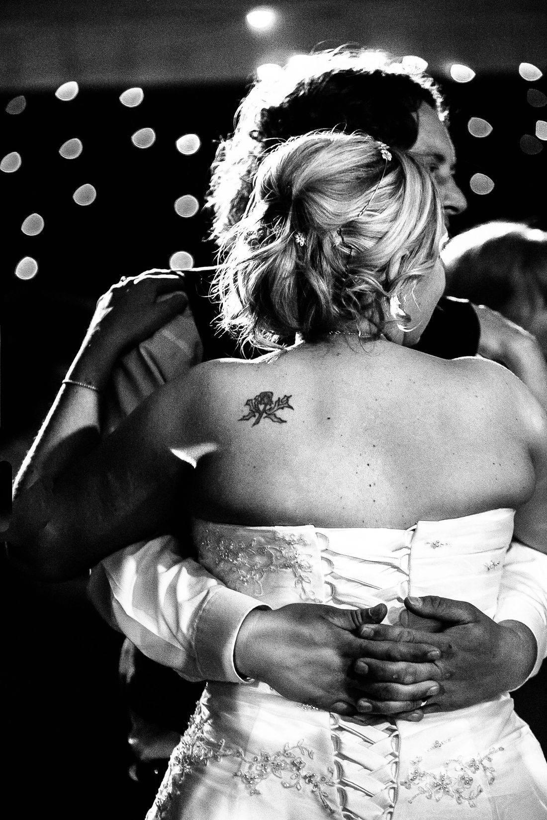 Monochrome wedding photography UK