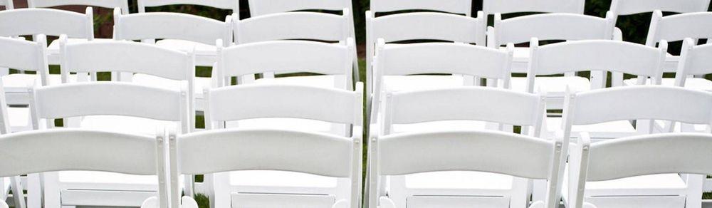white chair rental, wedding chair rental