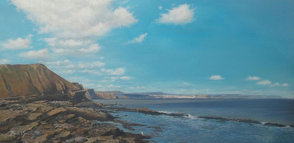 Jane Took Art Filey Painting Beach