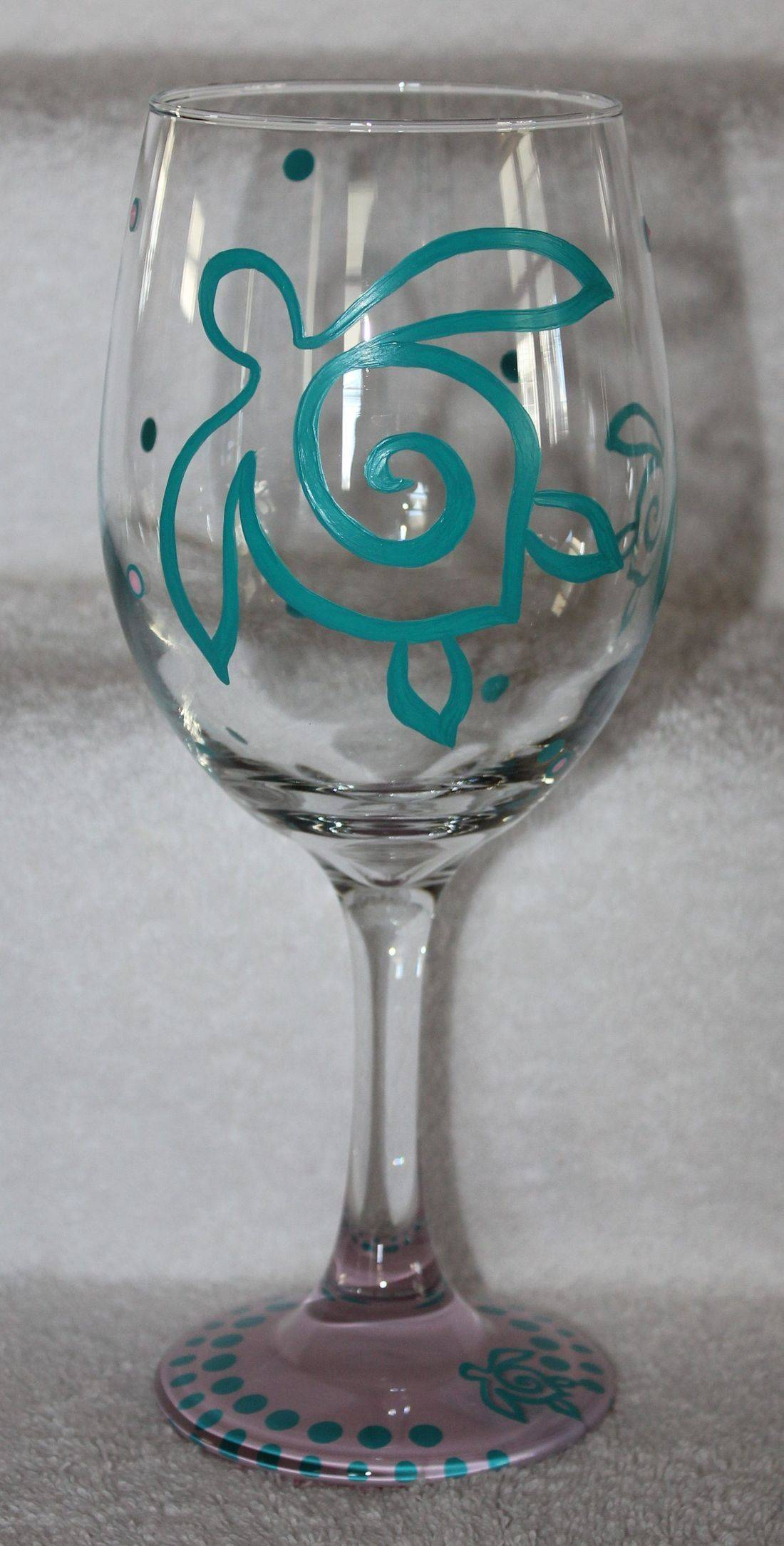 turtle wine glass