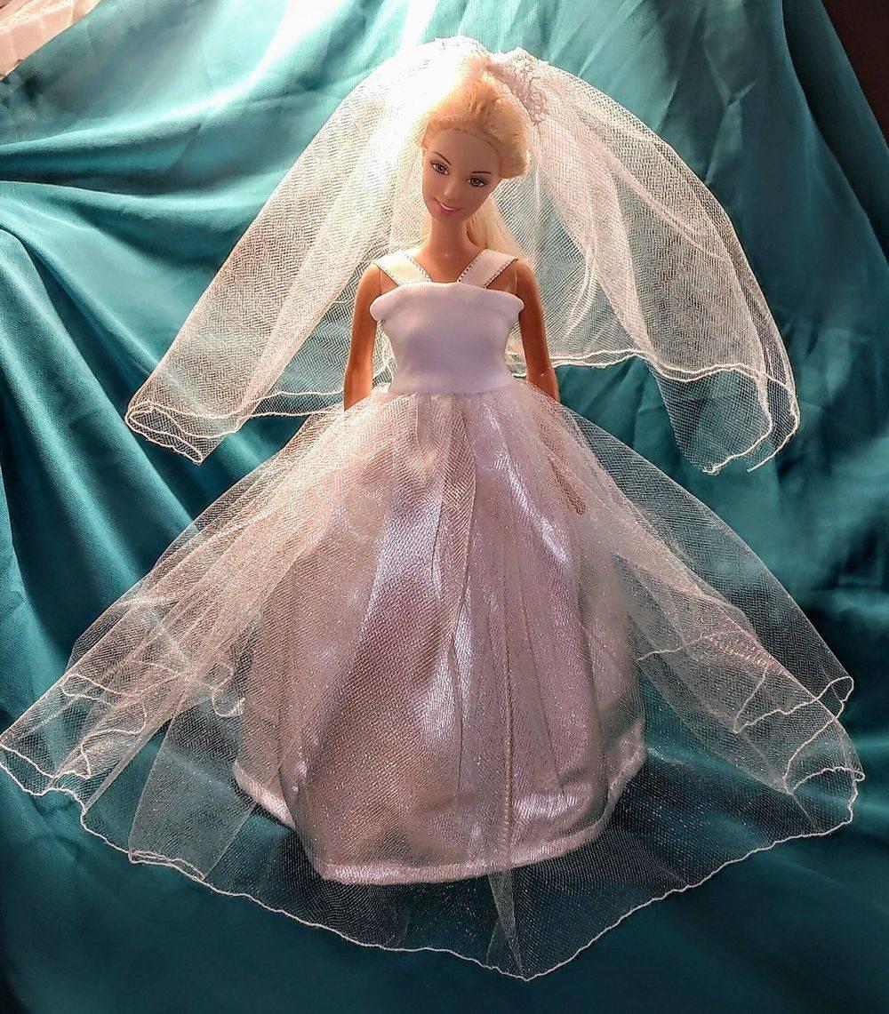 Barbie Wedding, Barbie Gown, Barbie Clothes, Doll Clothes, Fashion Doll Wedding