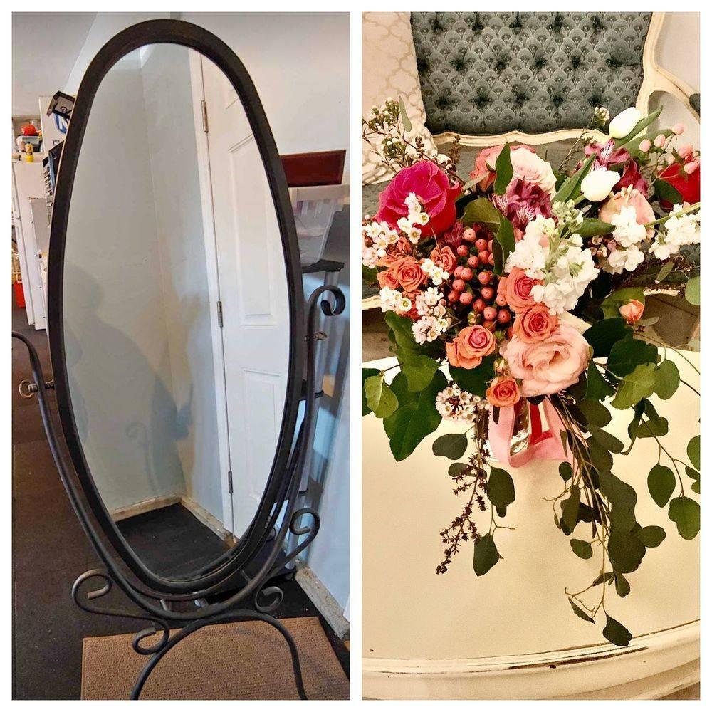 Mirror oval iron 6 foot