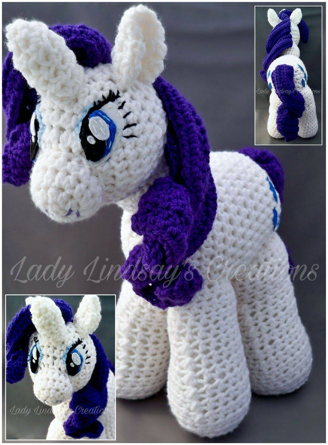 Rarity, MLP, My Little Pony, Anime, Crochet, Handmade, Brony, Pony, Amigurumi, Plush, handmade