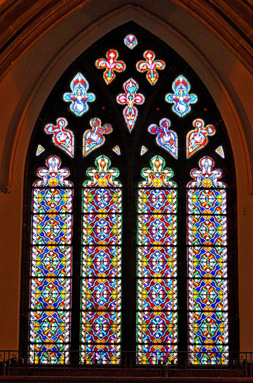 St James Woolton Liverpool Stained glass window