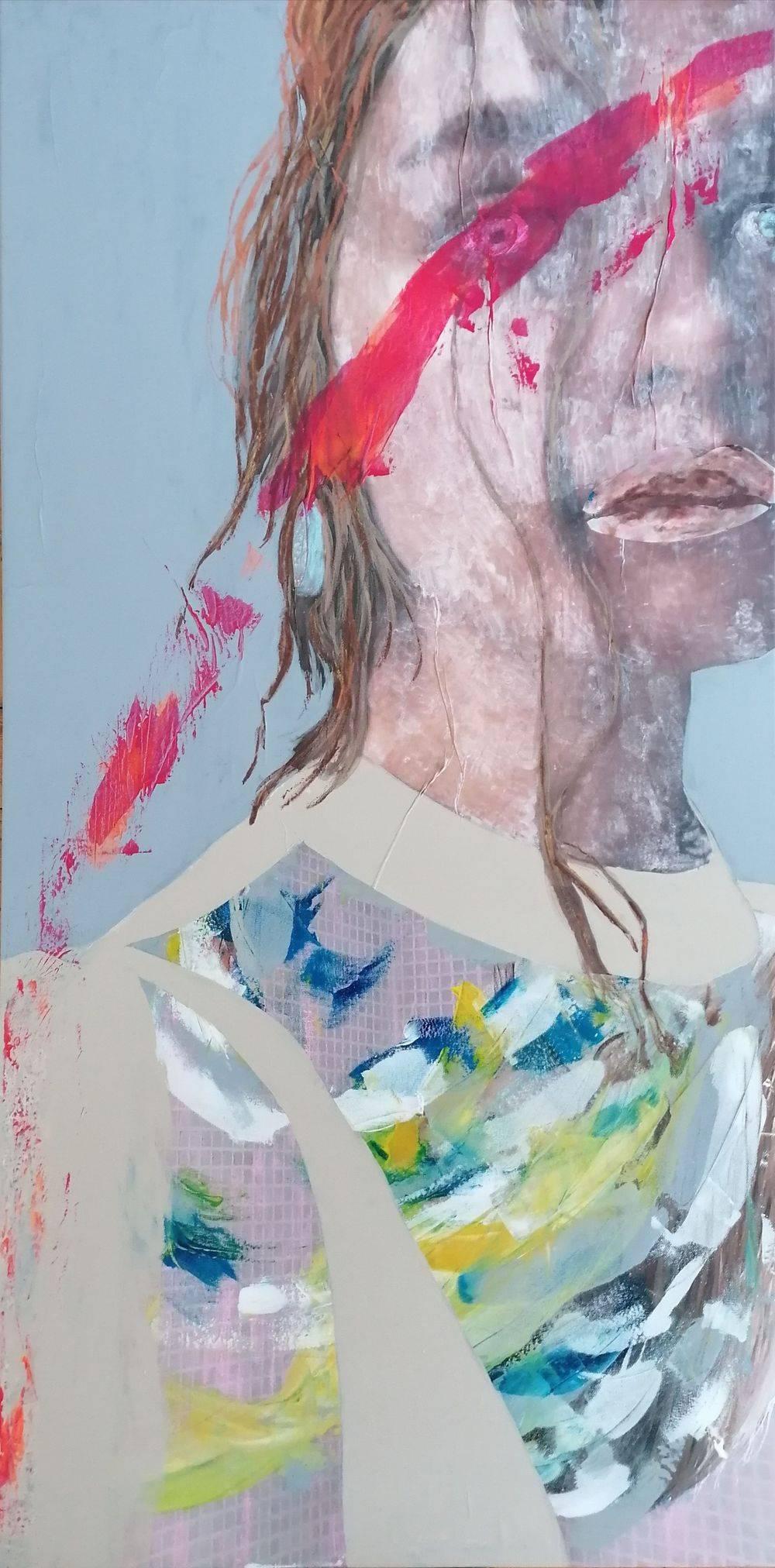 Aquarelle, Acrylique, Portrait, Femme, Histoire de l'art, Peinture