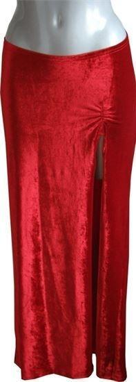 Red Spira Velour skirt