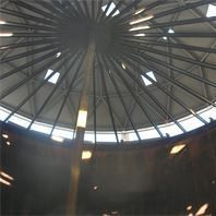 API 653 welded Steel storage tank roof replacement site photo.