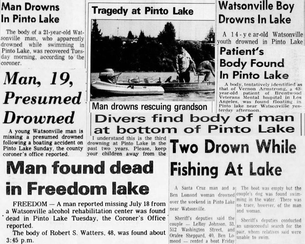 pinto lake drownings, watsonville haunted