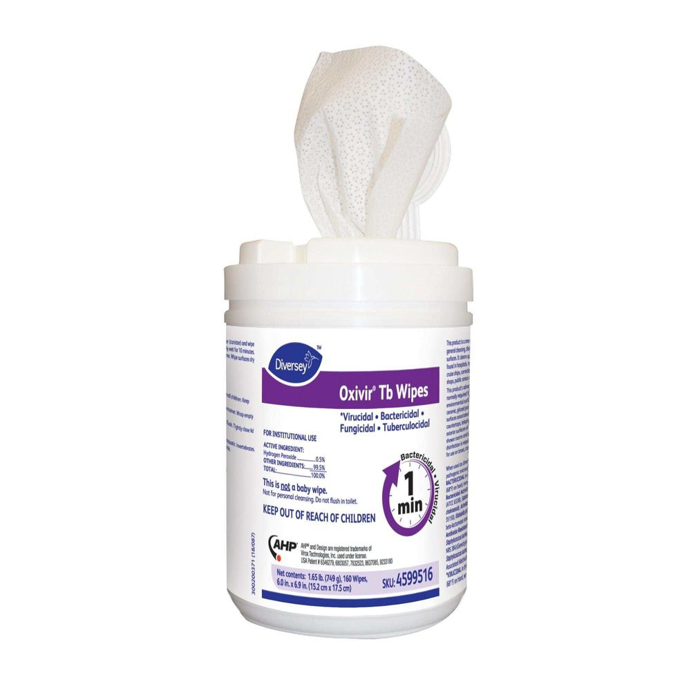 Oxivir TB Wipes Disinfectant Hydrogen Peroxide 1 minute kill
