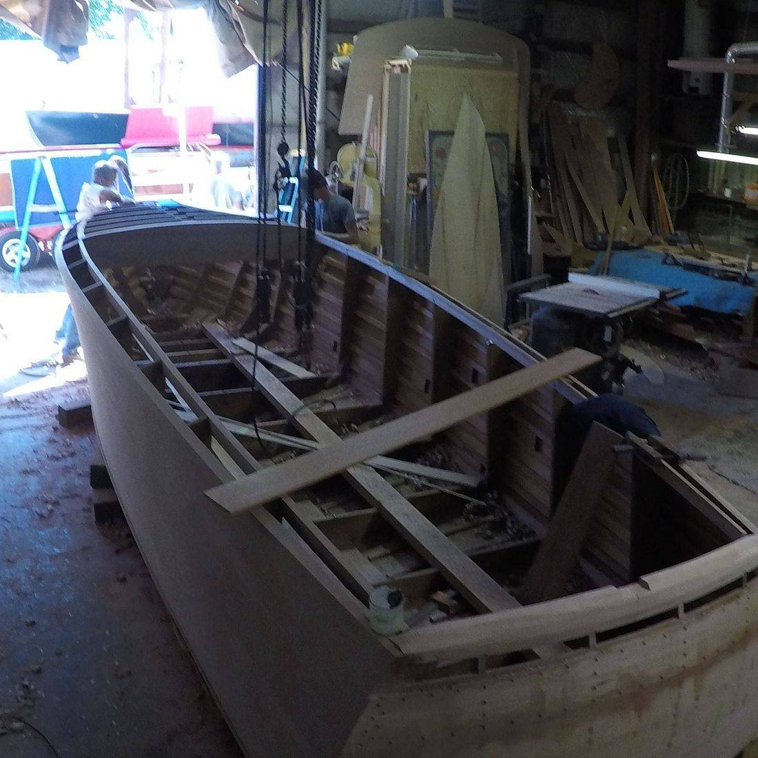 custom built boat at shepherd boats