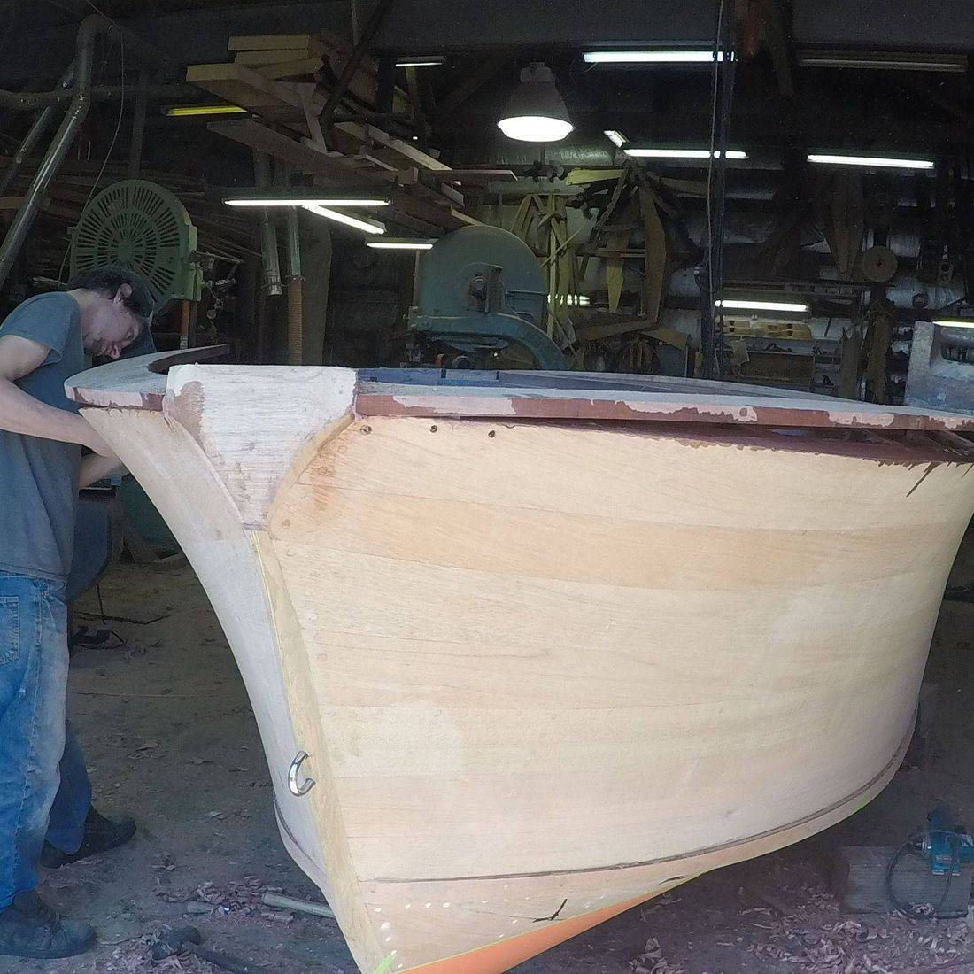 custom built boat at shepherd boat