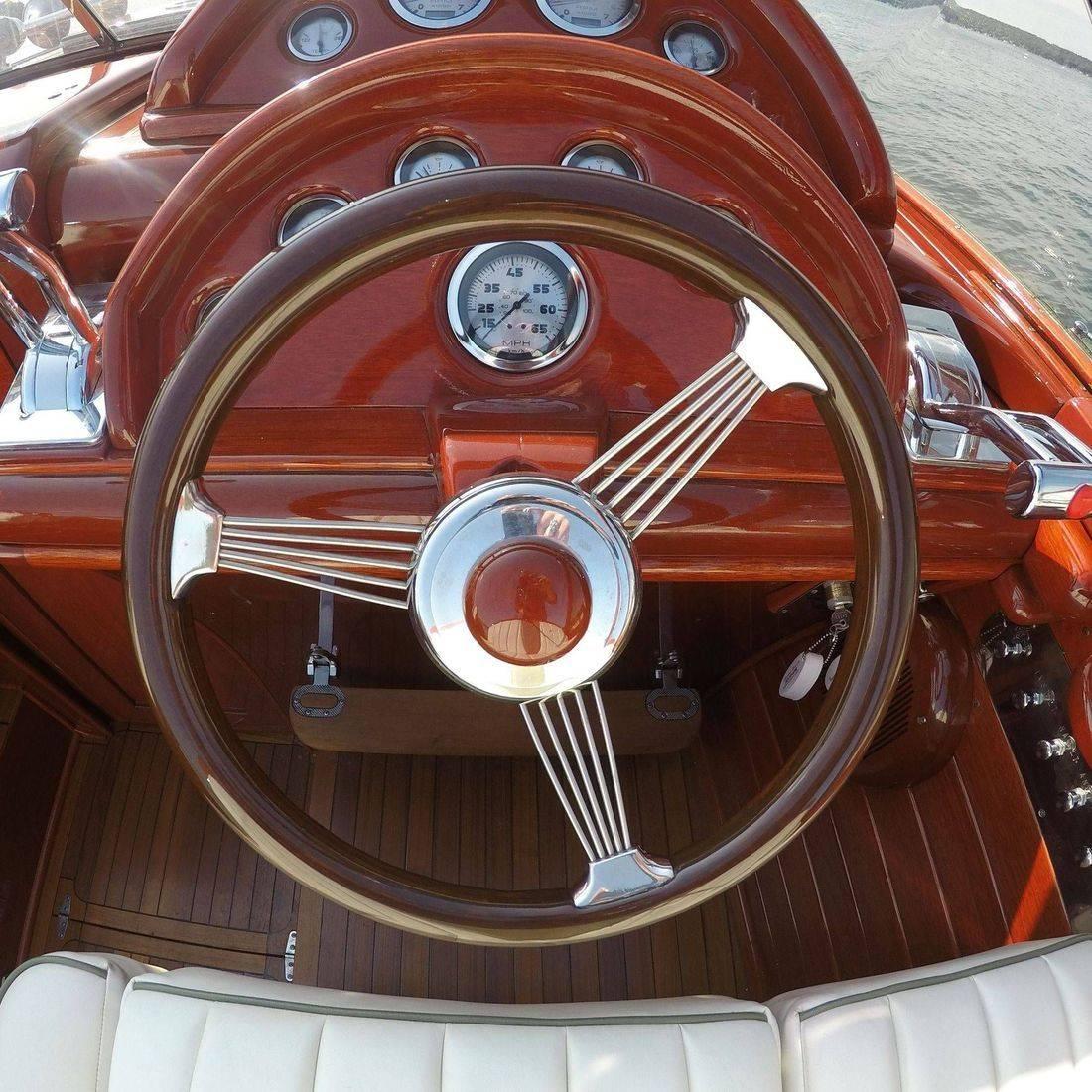 custom built luxury wood boat