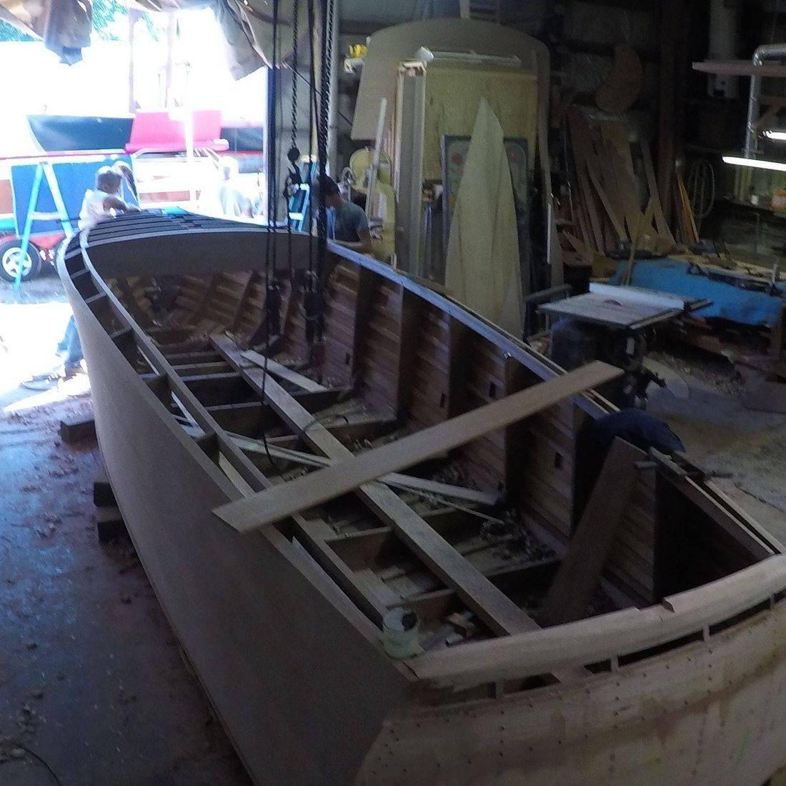 custom built boat at shepherd boats