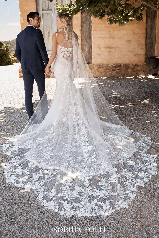 stunning lace wedding dress, sophia tolli wedding dress