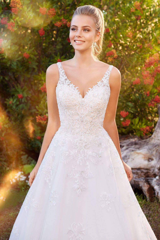 a-line wedding dress, lace wedding dress, a-line wedding dress with straps