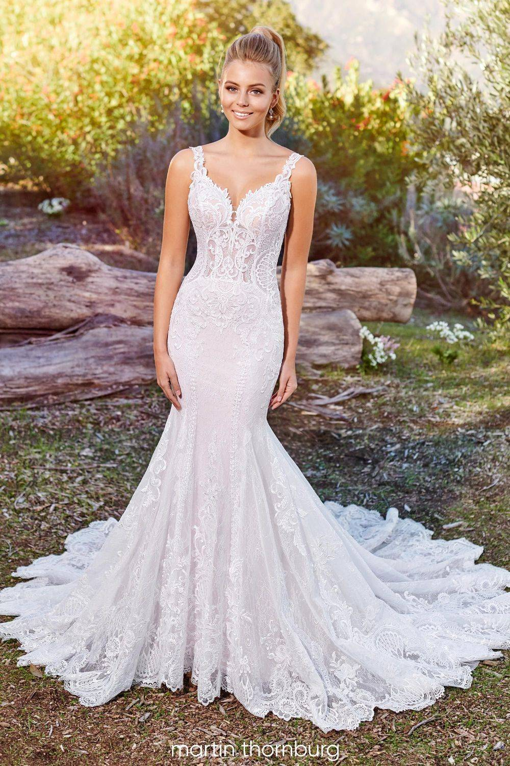 fit and flare lace wedding dress, wedding dress shop in rochester