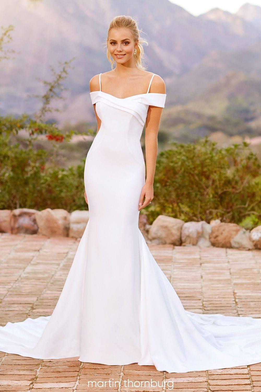 Off the shoulder wedding dress, bardot wedding dress