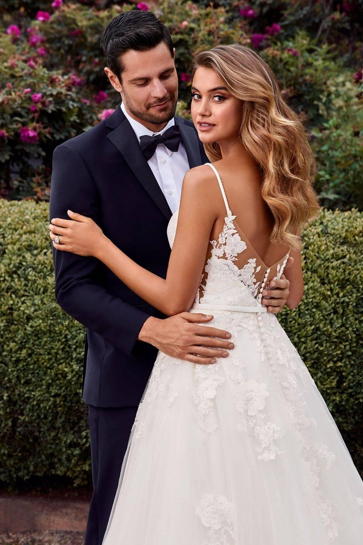 Y22041 Aurora, spaghetti straps, dipped neckline, a-line wedding dress, Medway