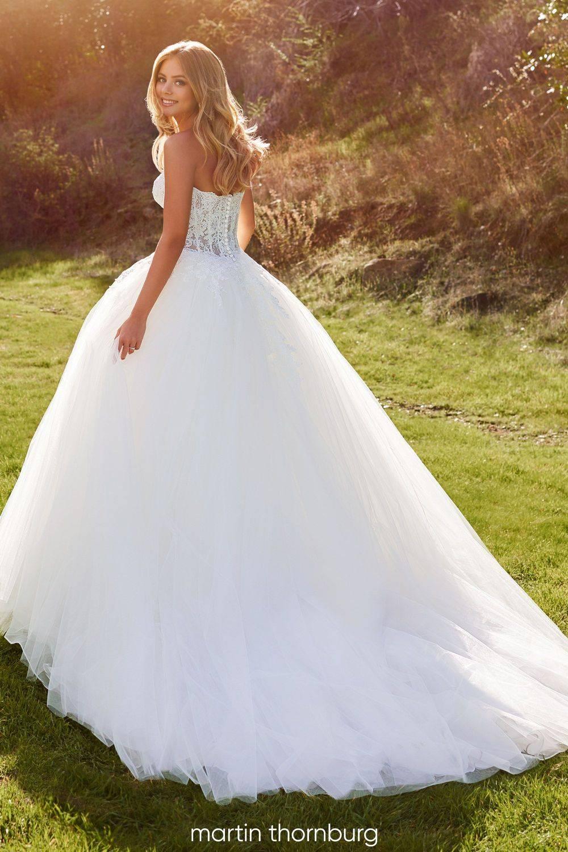 big wedding dress, illusion and lace