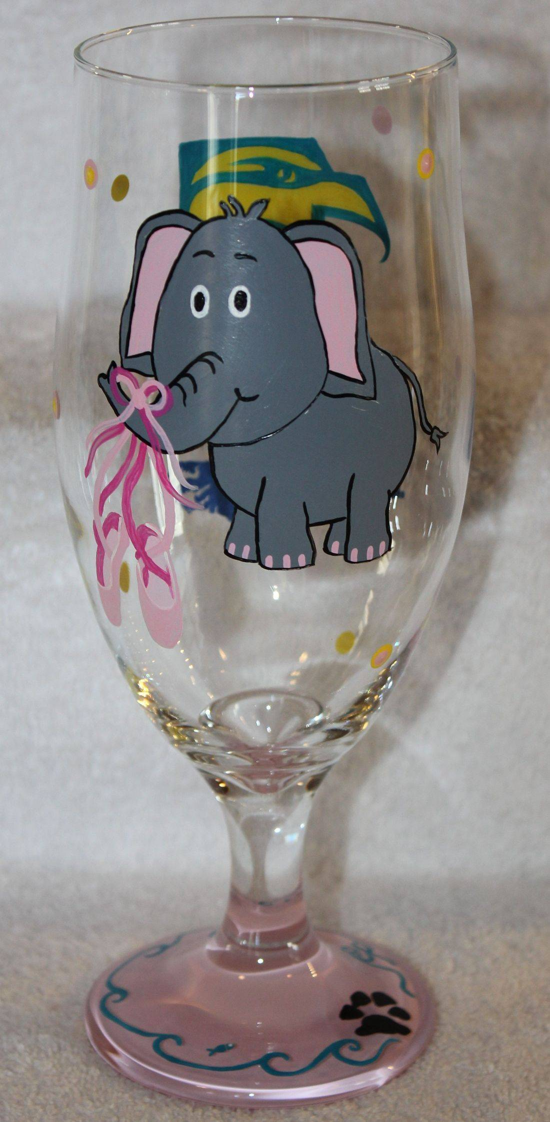 Elephant wine glass, elephant goblet