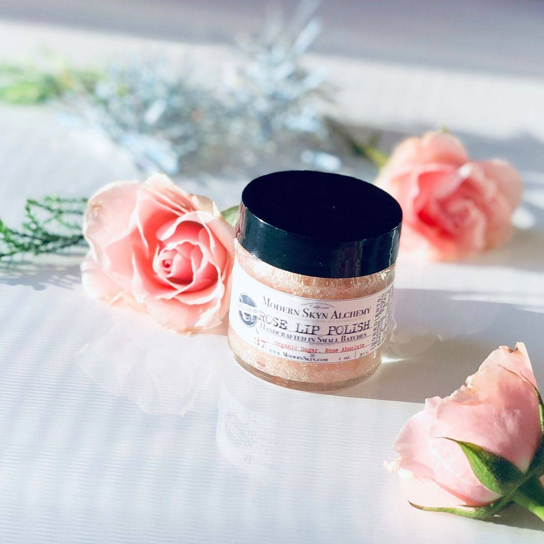 rose lip polish, lip scrub, best rose lip care, rose-infused beauty, clean beauty treats, holiday gifts