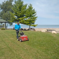John slit seeding at Point Clark Lighthouse Park