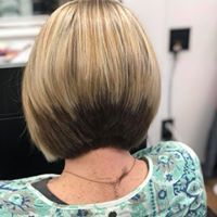 color, highlight, haircut, a-line stacked bob