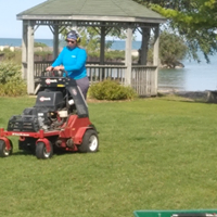 Exmark Ride On Aerator at Point Clark Lighthouse Park
