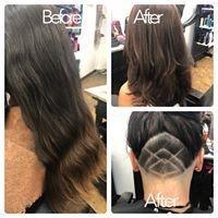 under cut, haircut, salon